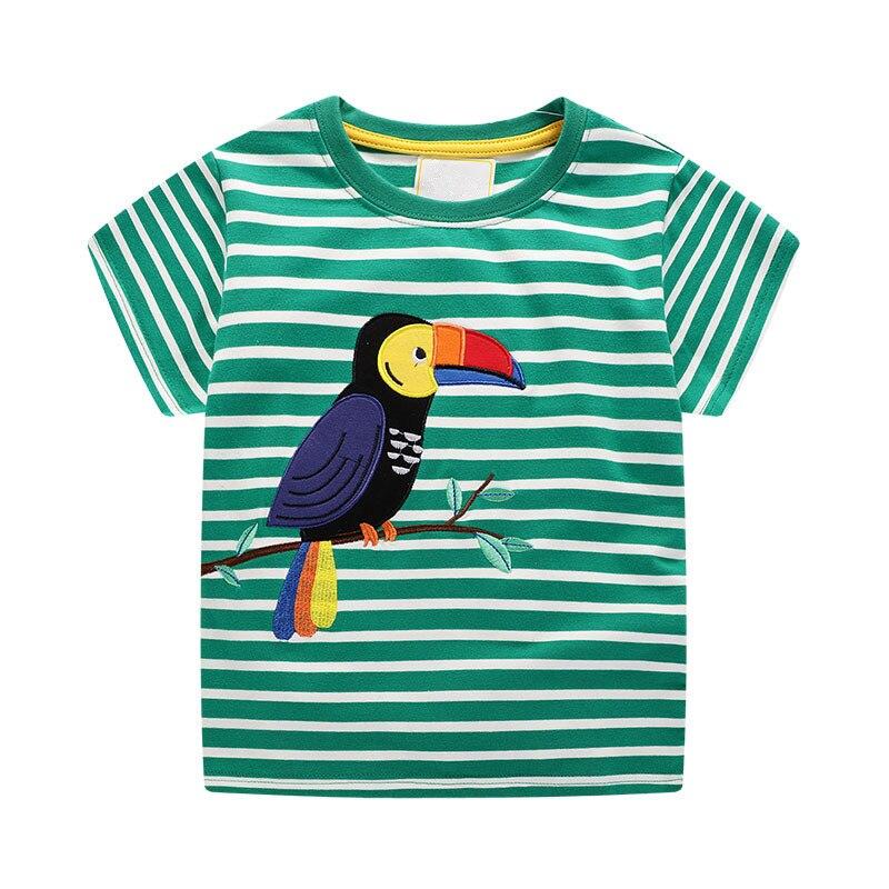 VIDMID baby boys short sleeve t-shirts clothes kids cartoon Dinosaur Tees boys striped clothing t-shirts tops clothes W02 5