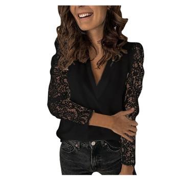 Bluzka damska bluzka kwiecista z bawełny czarna bluzka w stylu Vintage Hollow Out damska bluzka biurowa damska bluzka swobodna koronka z długim rękawem tanie i dobre opinie ISHOWTIENDA Poliester CN (pochodzenie) Wiosna jesień REGULAR Osób w wieku 18-35 lat O-neck Aplikacje Krótki Na co dzień