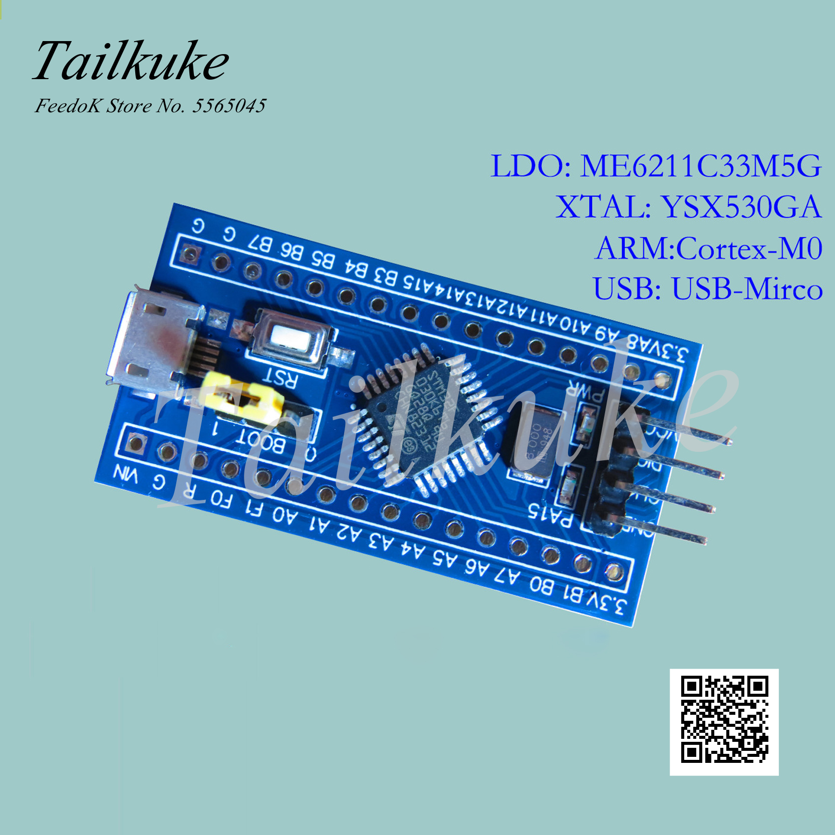 Stm32f030 Minimum System Stm32f030k6t6 Core Board Arm Promotion F0 Development Board Cortex-M0