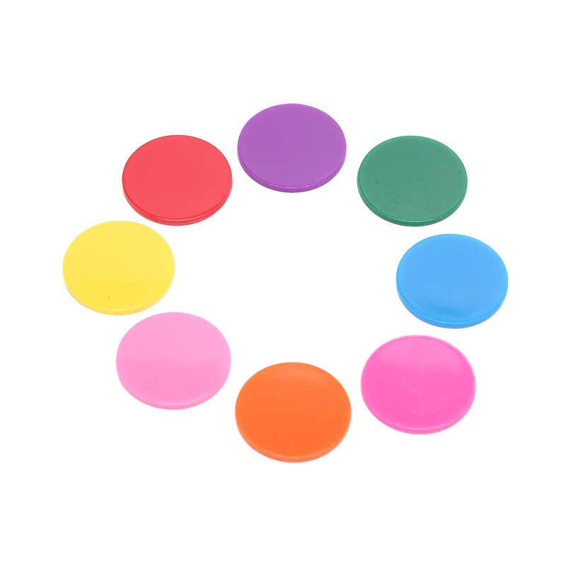9 couleurs 25mm 100 Pcs/Lot jetons de Poker en plastique Casino Bingo marqueurs jeton amusant famille Club jeux de société jouet cadeau créatif