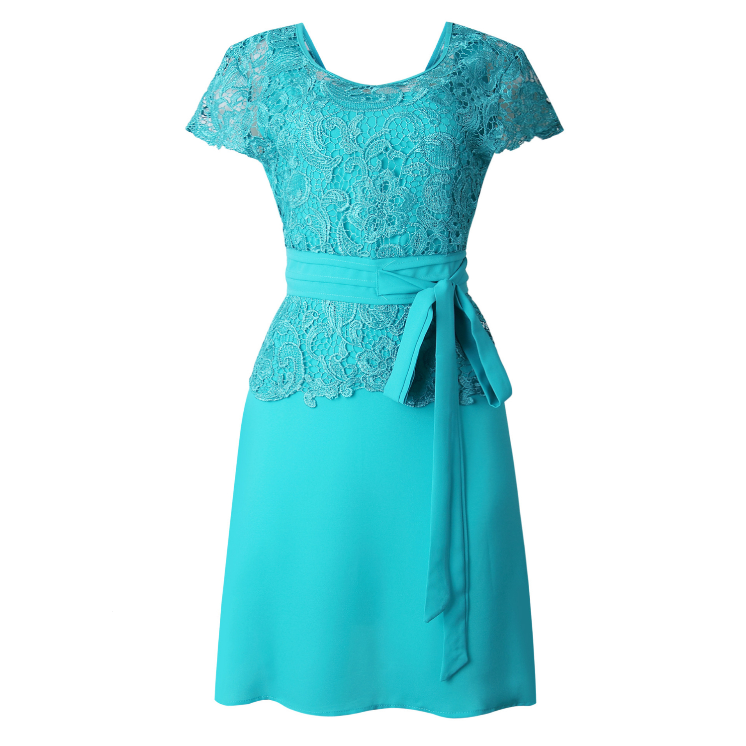BacklakeGirls New Arrival Women's Solid Color Lace Short Sleeve Woman Dress Brides Mother Dresses For Weddings Plus Size
