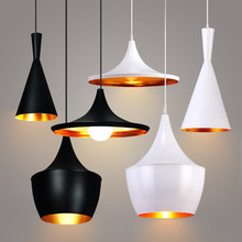 Black / White Industrial Wind Chandelier lamps Living Room Dining Bar Office Simple Modern Single Head Musical Instrument Lights