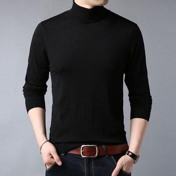 2020 Новый осень-зима Для мужчин свитер Для мужчин водолазка одноцветное Цвет свитер для повседневной носки трикотажные пуловеры декопилл для мужчин