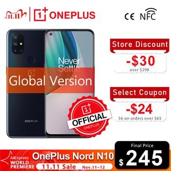 Global Version OnePlus Nord N10 5G Snapdragon 690 6GB 128GB Smartphone 6.49 90Hz Display 64MP Quad Cams 4300mAh Warp Charge 30T