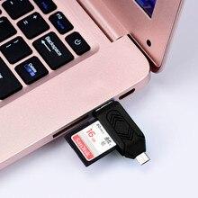 Кард-ридер Портативный высокоскоростной мини металлический USB 2,0+ OTG Micro SD/SDXC TF кард-ридер адаптер U диск Поддержка USB 2,0/1,1 версия