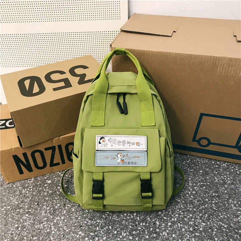 2019 Корейская версия новой модной двойной сумки через плечо женская многофункциональная Большая вместительная дышащая Студенческая школьная сумка