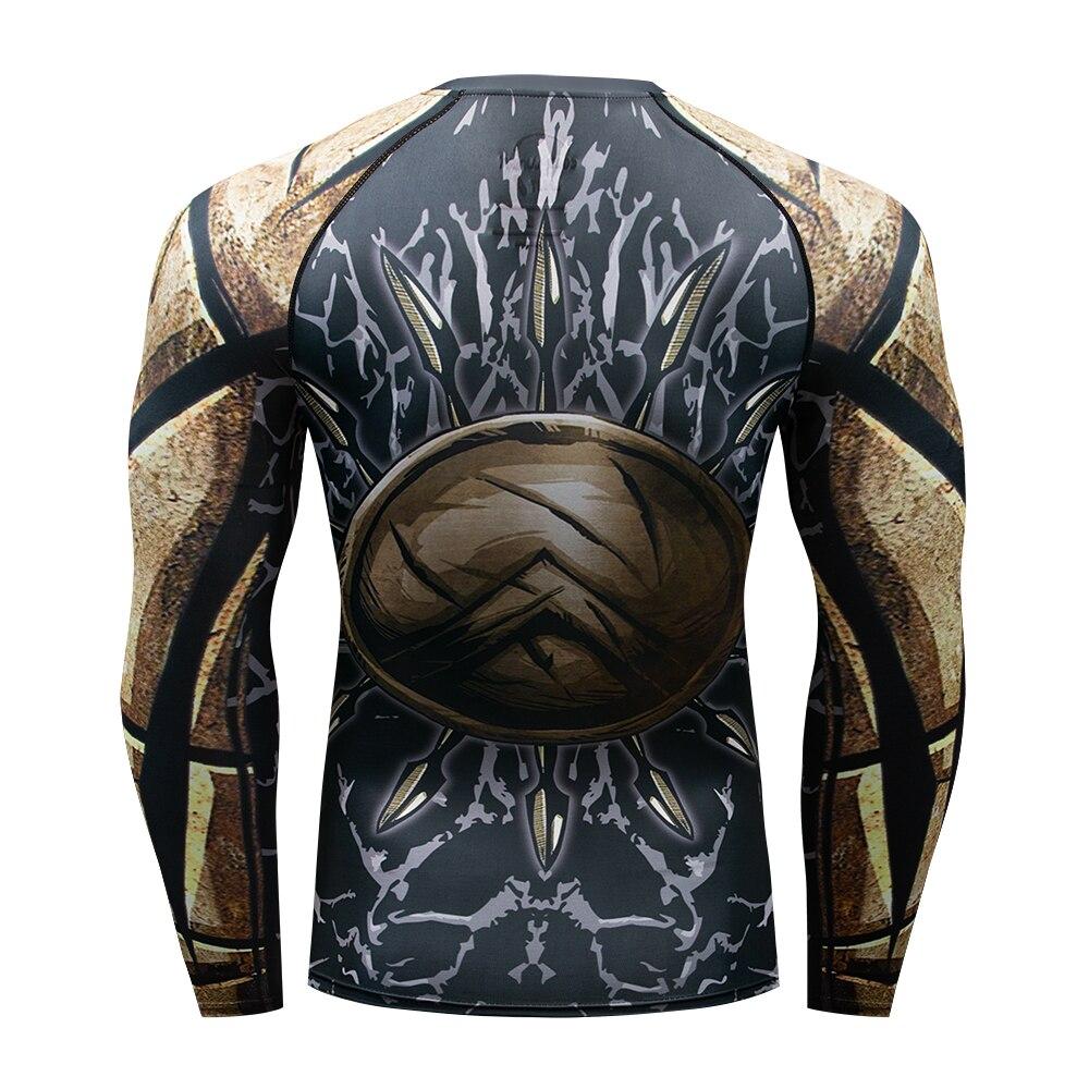 Image 5 - Muay Quick Dry Rash Guard t shirt Men Long Sleeve Rashguard  Boxing Compression Jersey KickBoxing Tight T Shirts MMA FightwearBoxing  Jerseys