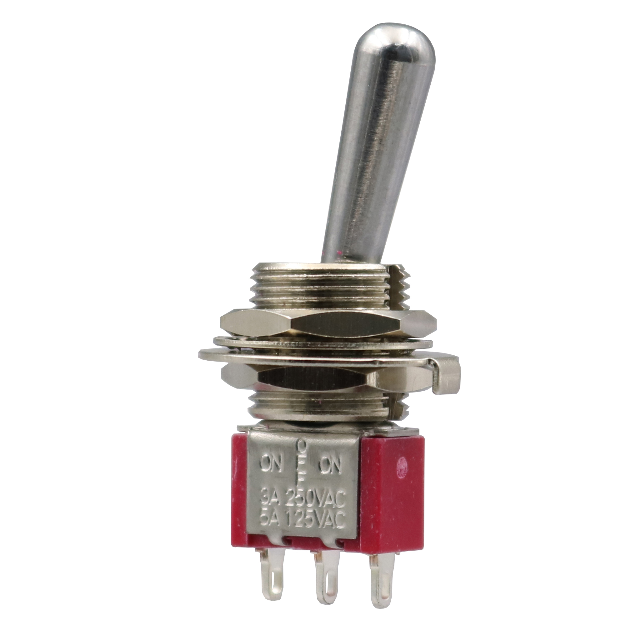 2Pcs SH T8014 ON-OFF-ON Maintained 3Pin 3 Position SPDT Mini Toggle Switch