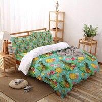 Set di biancheria da letto con foglie di palma di ananas per Set copripiumino per la casa lenzuola lenzuola lenzuola Queen King Size Qulit Covers