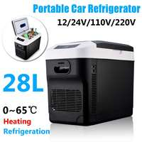 28L Home/Car Refrigerator 12V/24V 220V Automoble Fridge Refrigerator Freezer Cooling Box frigobar Food Storage Fridge Compressor