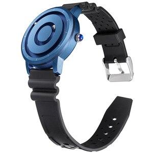 EUTOUR мужские часы, желтые, черные, модные, нейлоновые, с магнитным магнитом, многофункциональные, металлические, мужские, кварцевые часы