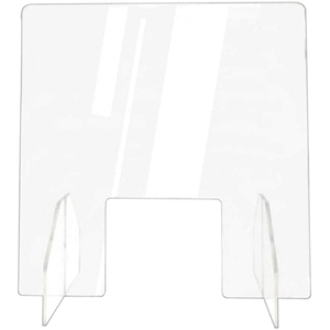 Protective Sneeze Guard, Clear Acrylic Plexiglass Shield for Counters, Food Sn, Transaction Window for Employers,