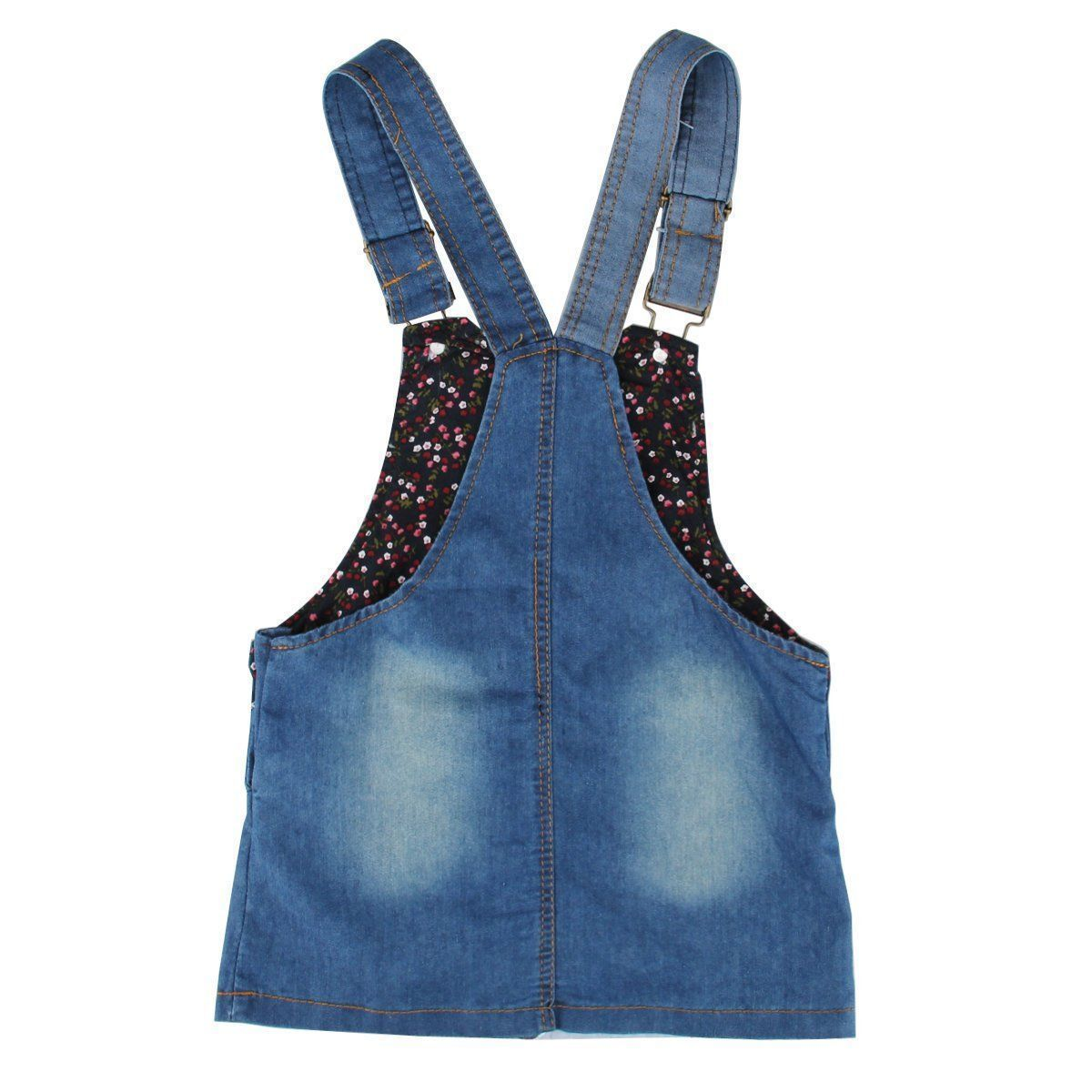 Summer Kids Girls Dress Denim Overalls Dresses Braces Clothes For Age 2-7 Years Kids 2