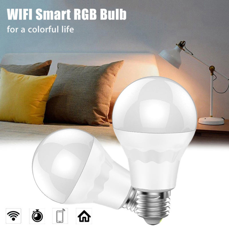 Wifi Smart LED Light Bulb Dimmable App Control For Amazon Alexa/Google Home White