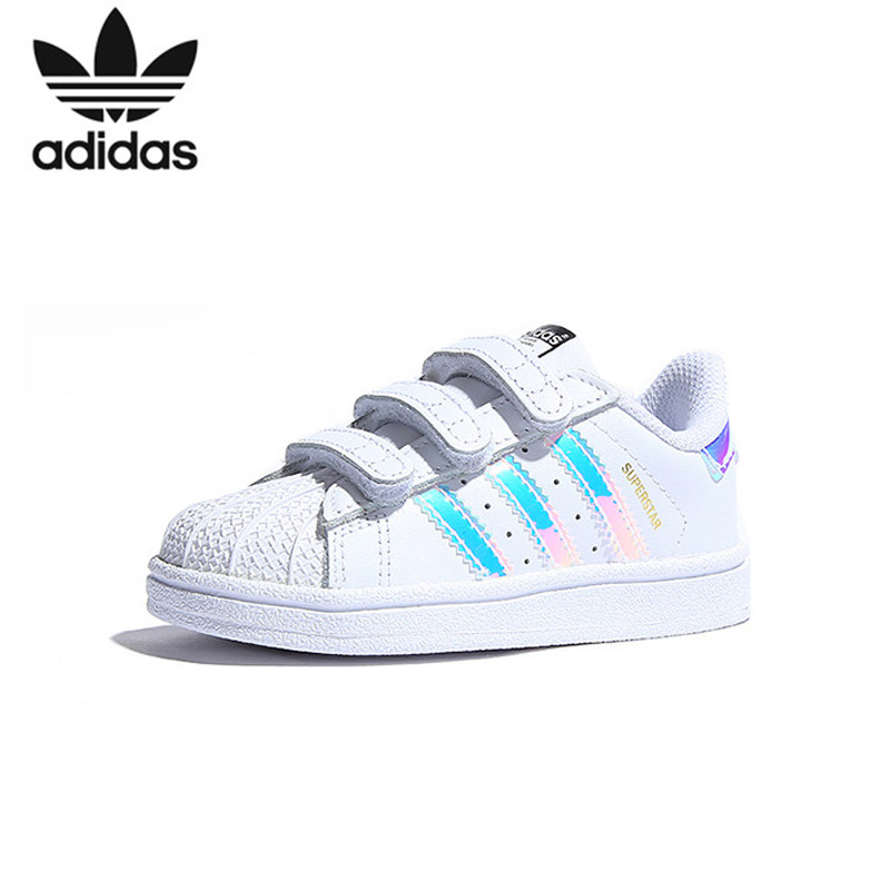 Adidas Superstar Kids chaussures de skate enfant originales chaussures de sport Anti-glissante # AQ6280