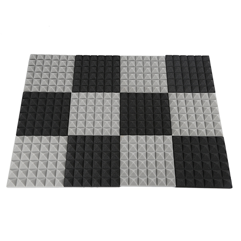 Quality Charcoal Acoustic Foam Tiles Soundproofing Foam Panels Studio Sound Padding 2 X 10 X 10 Inch