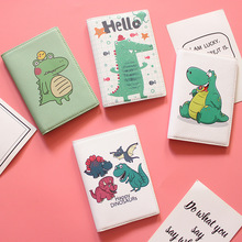 Little Cute Dinosaur Waterproof Passport Sets Ins Simple Cartoon Passport Holder Ticket Holder