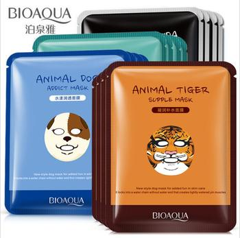 BIOAQUA 1 pcs Skin Care Sheep/Panda/Dog/Tiger Facial Mask Moisturizing Cute Animal Face Masks цена 2017