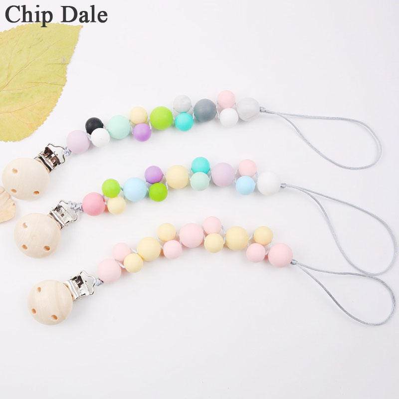 Chip Dale Newest Soother Chains Silicone Pacifier Clip Chain Baby Teething Dummy Nipple Holder Food Grade Silicone Feeding Chain