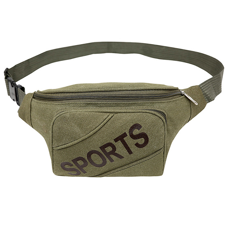 MONNET CAUTHY New Arrivals Waist Packs Classic Leisure Canvas Bags For Men Solid Color Army Green Khaki Zipper Fashion Chest Bag