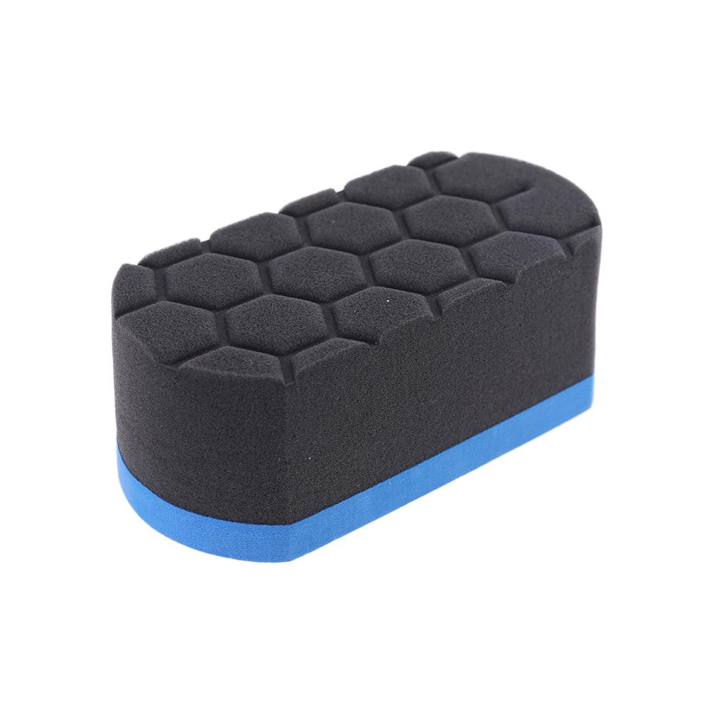 1PCS Wave Type Tire Dressing Tools Hex Grip Applicator Handheld Tire Waxing Sponge New