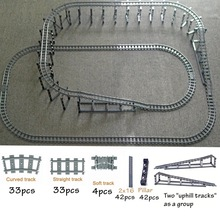 City Train Flexible Tracks trein Uphill track Rail Straight & Curved Rails Sets Compatible with Leduo Building Block Brick Model