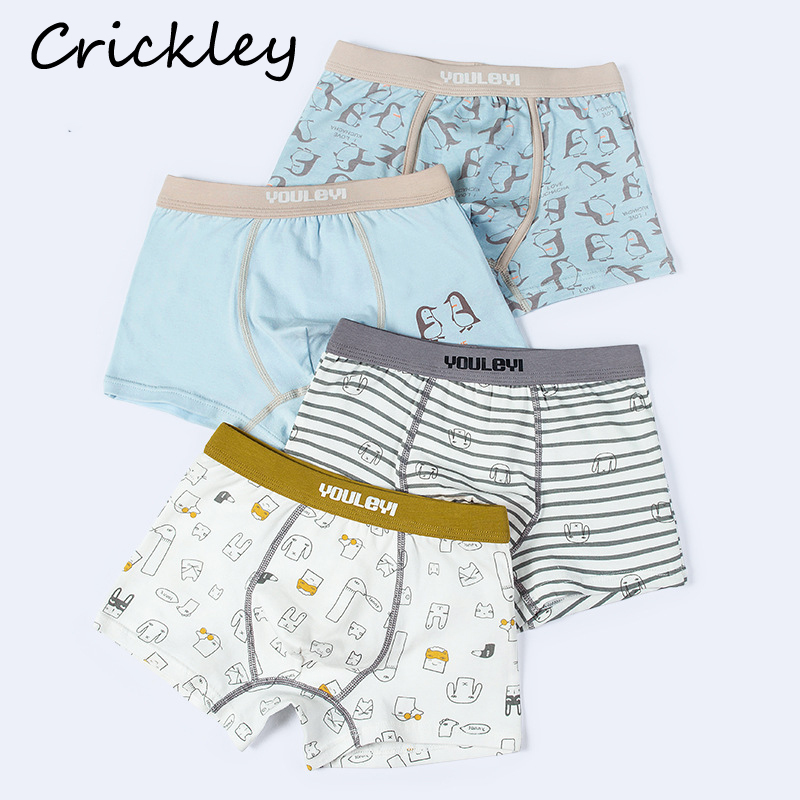 Children High Quality Tightness Boxer For Boys Girls Cartoon Pattern Underwear Cotton Soft Boys Underpants Panties Girl Knickers