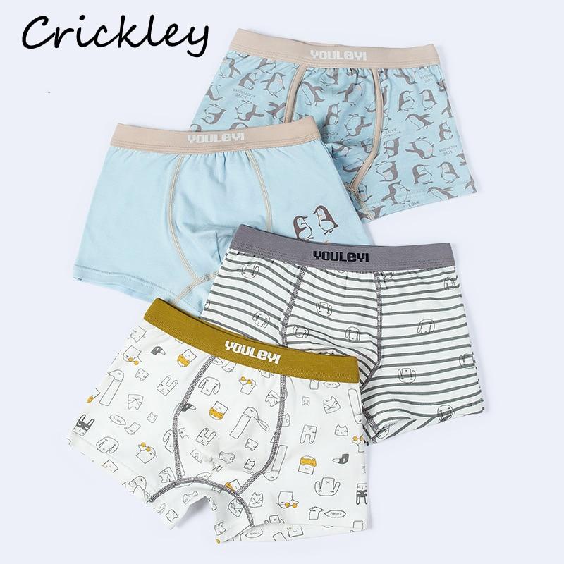 Children High Quality Tightness Boxer For Boys Girls Cartoon Pattern Underwear Cotton Soft Boys Underpants Panties Girl Knickers