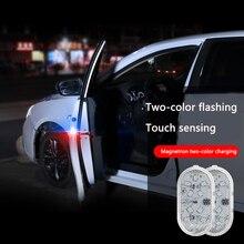 Signal-Lamp Flash-Alarm Warning-Light Anti-Collision Lantern Door Wireless Car 2pcs Universal