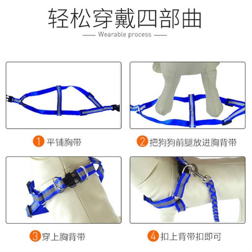 Small And Medium-sized Dogs Cat Vest Style Dog Dog Traction Rope Corgi Teddy Pet Supplies Puppy Suspender Strap Chain