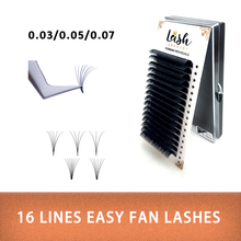 LAKANAKU Auto fans easy rotating eyelash extension Bloom voulme lashe  16rosw quick extensions