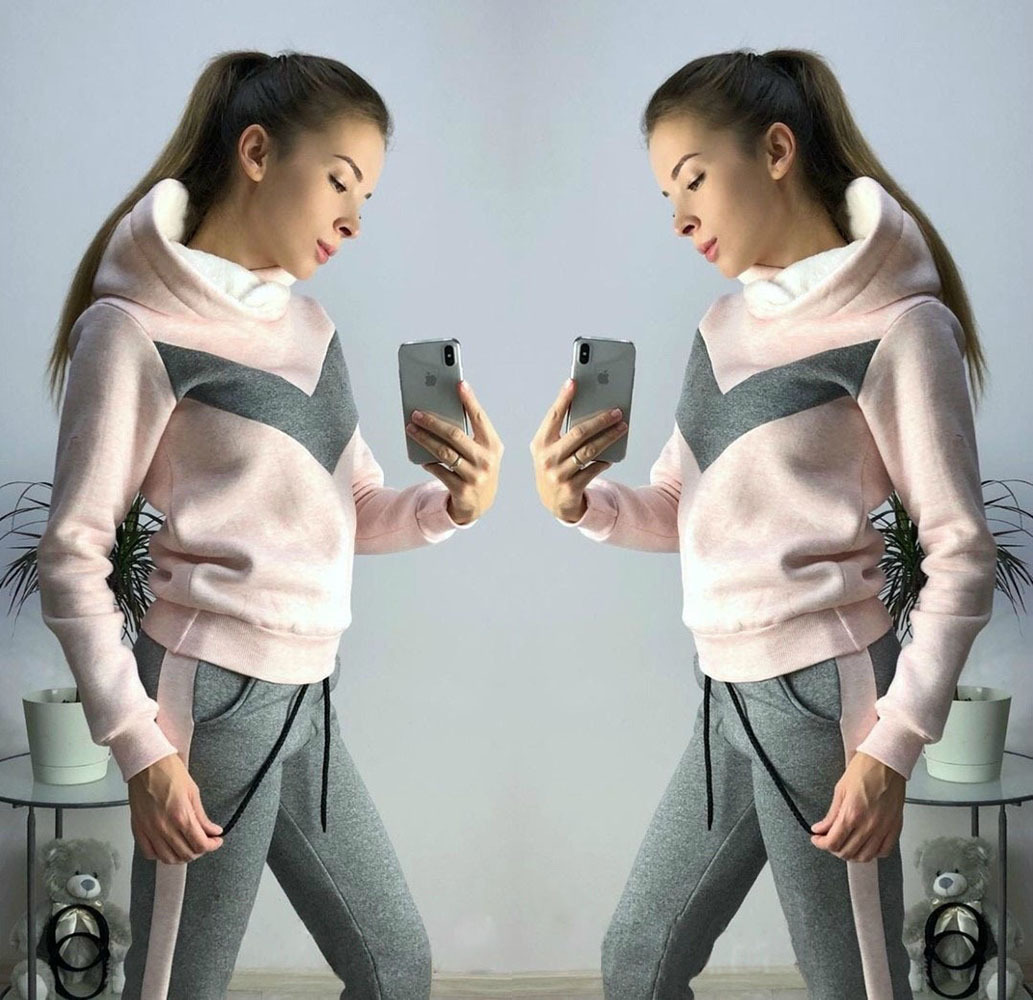 2019 Hot Selling Europe And America WOMEN'S Dress Autumn And Winter New Style Sports Casual Fleece Set Two-Piece Set