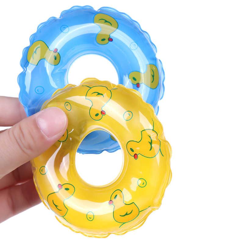 1 sztuk lalki pływanie boja koło ratunkowe pierścień dla lalek akcesoria diy domek dla lalek zabawki prezent dla dziecka lato plaża kąpiel