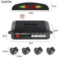 Wireless Car Auto Parktronic Parking Sensor System With 4 Sensors Reversing Car Parking Radar Monitor Detector LED Display