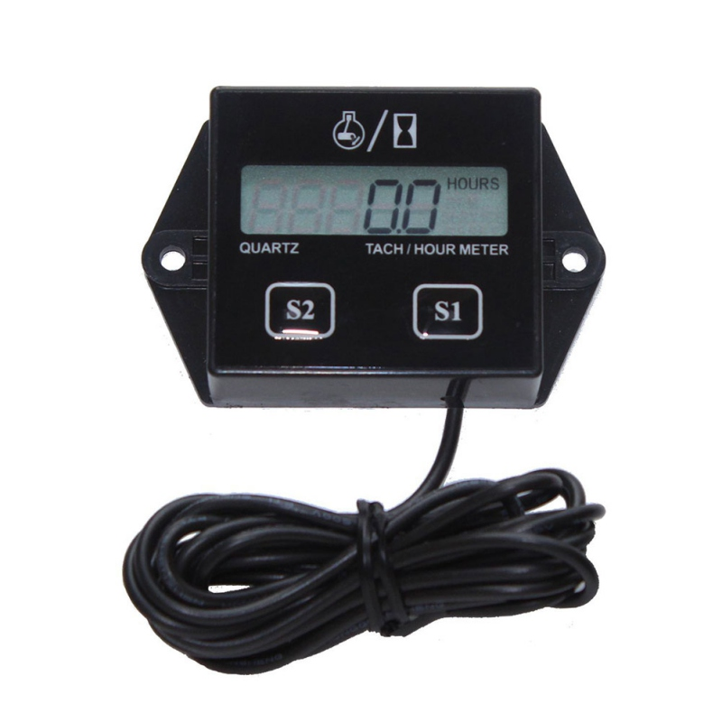 2019 Motorcycle Digital Display Tachometer Motor Boat Engine Electronic Tachometer|Tachometers| |  - title=