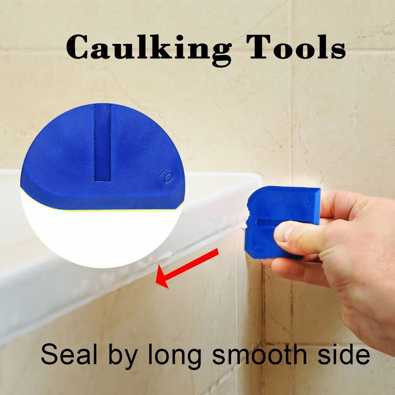 4//5//9pcs Silicone Sealant Scraper Spreader Cement Caulk Removal Grout Kit Tool