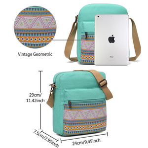 Image 5 - VASCHY Shoulder Bags for Girls Vintage Canvas Small Bag for Women Lightweight Crossbody Bag Messenger Bag with Inner Side Pocket