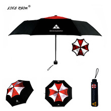 LIKE RAIN Creative Movie Biohazard Umbrella Fashion Men Folding Women Anime Umbrellas Sun UBY17