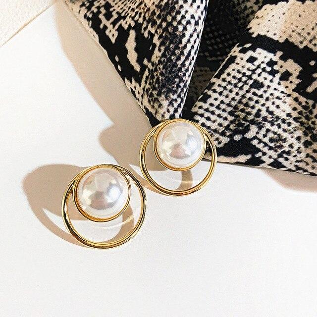Korean Bar Pearl Stud Earrings For Women 2020 New Fashion Jewelry Korean Simple Earings Gold Color.jpg 640x640 - Korean Bar Pearl Stud Earrings For Women 2020 New Fashion Jewelry Korean Simple Earings Gold Color Wholesale