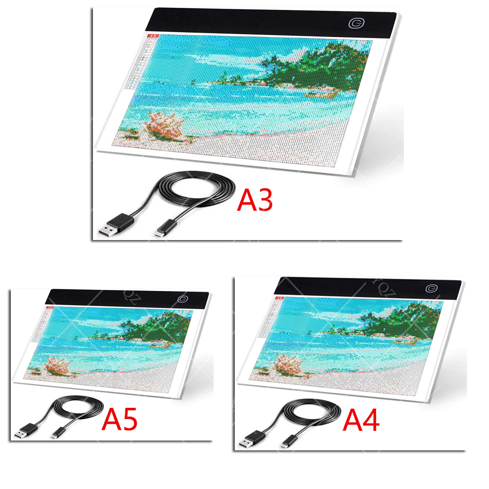 Ultra Thin A3 A4 A5 LED Light Pad Artist Light Box Table Tracing Drawing Board Pad Diamond Painting Embroidery Tools 1