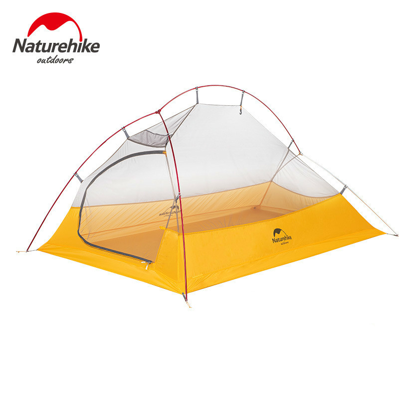 Naturehike новое обновление Cloud UP 2 Сверхлегкий тент 10D нейлоновый силиконовый портативный автономный Открытый Кемпинг палатки с бесплатным ковриком - 2
