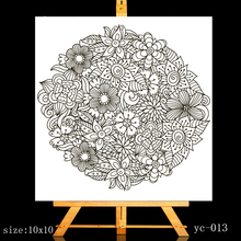 ZhuoAng A mass of flowers Clear Stamps/Card Making Holiday decorations For  scrapbooking Transparent stamps 10*10cm