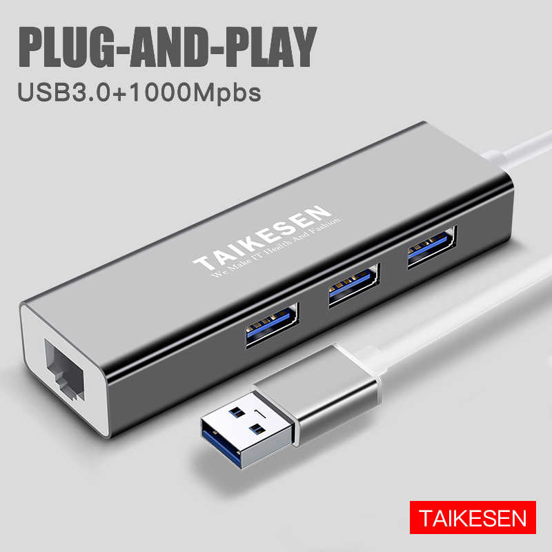 Laptop PC Broonel USB Ethernet USB Network Adapter,LAN Adapter with Multi USB 3.0 Ports Compatible with The Huawei MateBook 13