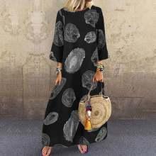 Vintage impresso maxi vestido de verão feminino vestido novo estilo casual manga curta vestidos feminino o-neck robe plus size 5xl