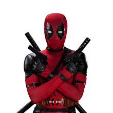 Flash Sale UWOWO Deadpool Cosplay Kostum Wade Winston Wilson Baju Deluxe Full Set Kulit Pakaian Halloween Cosplay(China)