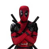 UWOWO Deadpool Cosplay Costume Wade Winston Wilson Bodysuit Deluxe Full Set Leather Outfits Halloween Cosplay