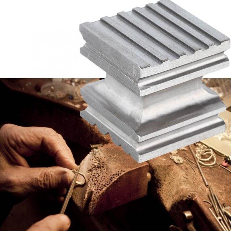 Poinçon carré de bloc de dging de dôme en acier de dureté élevée formant l'outil de façonnage pour la fabrication de bijoux - 6