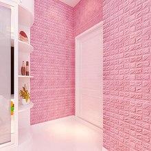 60×30cm Brick Wall Stickers Color Foam Manufacturers Custom Home Soft 3D Anti-collision Q