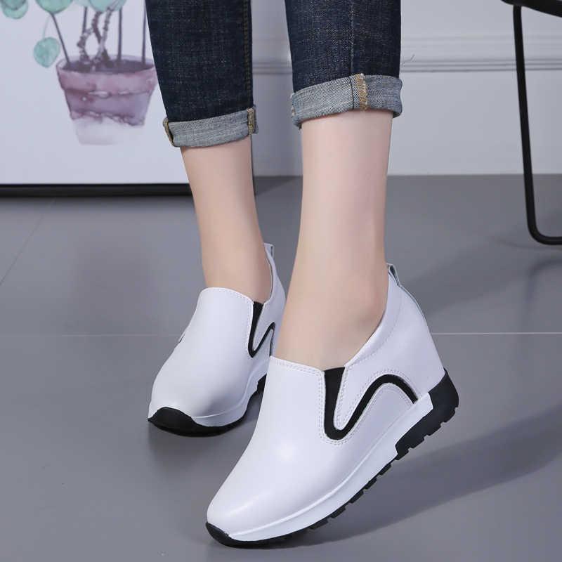 Plardin Yeni Kadın Düz Platform Sikke Mokasen Süet Deri Üzerinde Kayma Moccasins Bayanlar Bahar Ayakkabı Daireler Kadın Creepers Ayakkabı