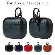 Business Leather Protective Case For Apple Airpods Pro 2019 Shockproof Cover For Air Pods 3 Wireless Bluetooth Earphone Case
